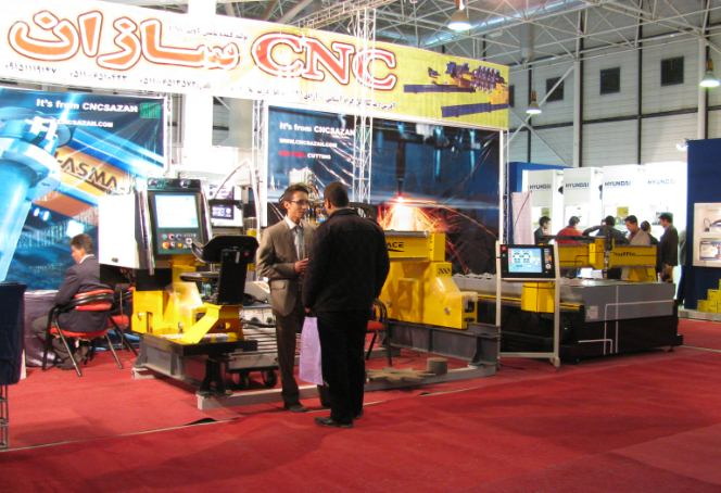 غرفه CNC سازان در نمایشگاه صنعت مشهد