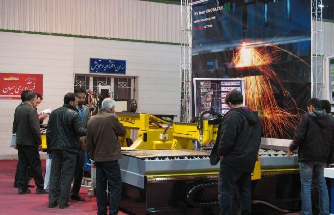 دستگاه برش CNC پلاسما و هواگاز در نمایشگاه اصفهان