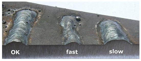 انواع عیوب اصلی جوش +روی هم افتادگی ( Overlap ) + بریدگی کناره جوش (Undercut) + آخال های سرباره (Slag Inclusion) + ذوب ناقص ( lack of fusion , LOF ) + تخلخل ( porosity ) + عدم نفوذ ( نفوذ ناقص ) ( lack of penetration , LOP ) + چاله جوش ( crater ) + پاشش ( ترشح ) یا جرقه زیاد ( spatter ) + ترک در جوش ( crack ) + جوش لیزری + لیزر جوش + جوشکاری با لیزر