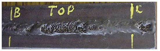 انواع عیوب اصلی جوش + روی هم افتادگی ( Overlap ) + بریدگی کناره جوش (Undercut) + آخال های سرباره (Slag Inclusion) + ذوب ناقص ( lack of fusion , LOF ) + تخلخل ( porosity ) + عدم نفوذ ( نفوذ ناقص ) ( lack of penetration , LOP ) + چاله جوش ( crater ) + پاشش ( ترشح ) یا جرقه زیاد ( spatter ) + ترک در جوش ( crack ) + جوش لیزری + لیزر جوش + جوشکاری با لیزر