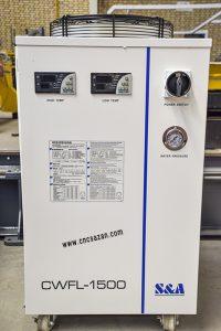 چیلر های خنک کننده + چیلر + چیلر صنعتی + خنک کننده + کارگاه صنعتی + کارگاه برش + برش سی ان سی + لیزر فایبر + برش لیزر + برش لیزری + دستگاه برش + دستگاه برش لیزر + گیج + فشار + فشار آب